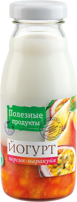Полезные продукты Йогурт резервуарный Персик и Маракуйа 1,5%, 170 г сибирская клетчатка mу body slim фитококтейль имбирь и корица 170 г
