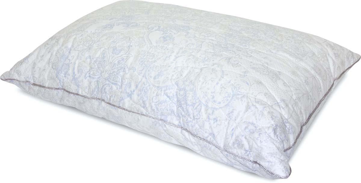 Подушка Сlassic by T Роял бамбук, стеганая, наполнитель: полиэфирное волокно, цвет: голубой, 50 х 70 см подушки 1st home подушка 50 70 лён