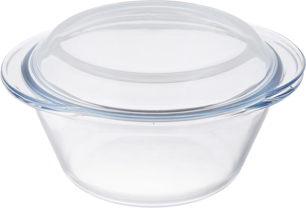 Посуда изготовлена из термостойкого стекла. Форма кастрюли круглая с двумя ручками по краям. Посуда из термостойкого стекла будет отличным выбором для всех любителей блюд, приготовленных в духовке и микроволновой печи. Стеклянное изделие не вступает в реакцию с готовящейся пищей, а потому не выделяет никаких вредных веществ, не подвергается воздействию кислот и солей. Из-за невысокой теплопроводности пища в стеклянной посуде гораздо медленнее остывает. Стеклянная посуда очень удобна для приготовления и подачи самых разнообразных блюд: супов, вторых блюд, десертов. Подходит для использования в духовках, микроволновых печах и морозильных камерах (при постепенном охлаждении и нагреве выдерживает температуру от -40?С до 400?С). Подходит для мытья в посудомоечной машине.