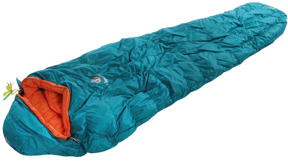 Мешок спальный Deuter Astro Pro 400, левосторонняя молния, экстремальная температура -20 °C, цвет: бирюзовый