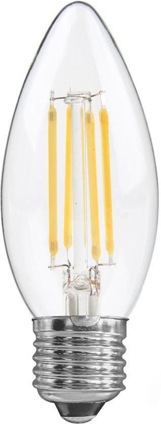 Лампа светодиодная REV Filament, C37, теплый свет, цоколь E27, 5 Вт. 32424 9 лампа светодиодная led e27 8 5вт 220v 2700к rev