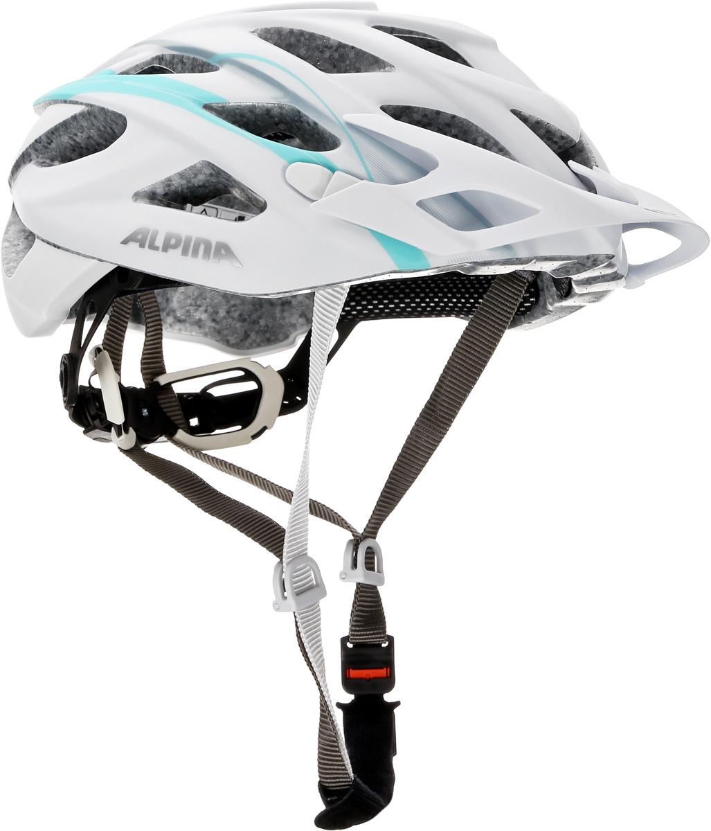 Велошлем Alpina D-Alto LE, цвет: белый, зеленый. Размер 52-57 см детский велосипед altair city girl 14 2017 белый синий