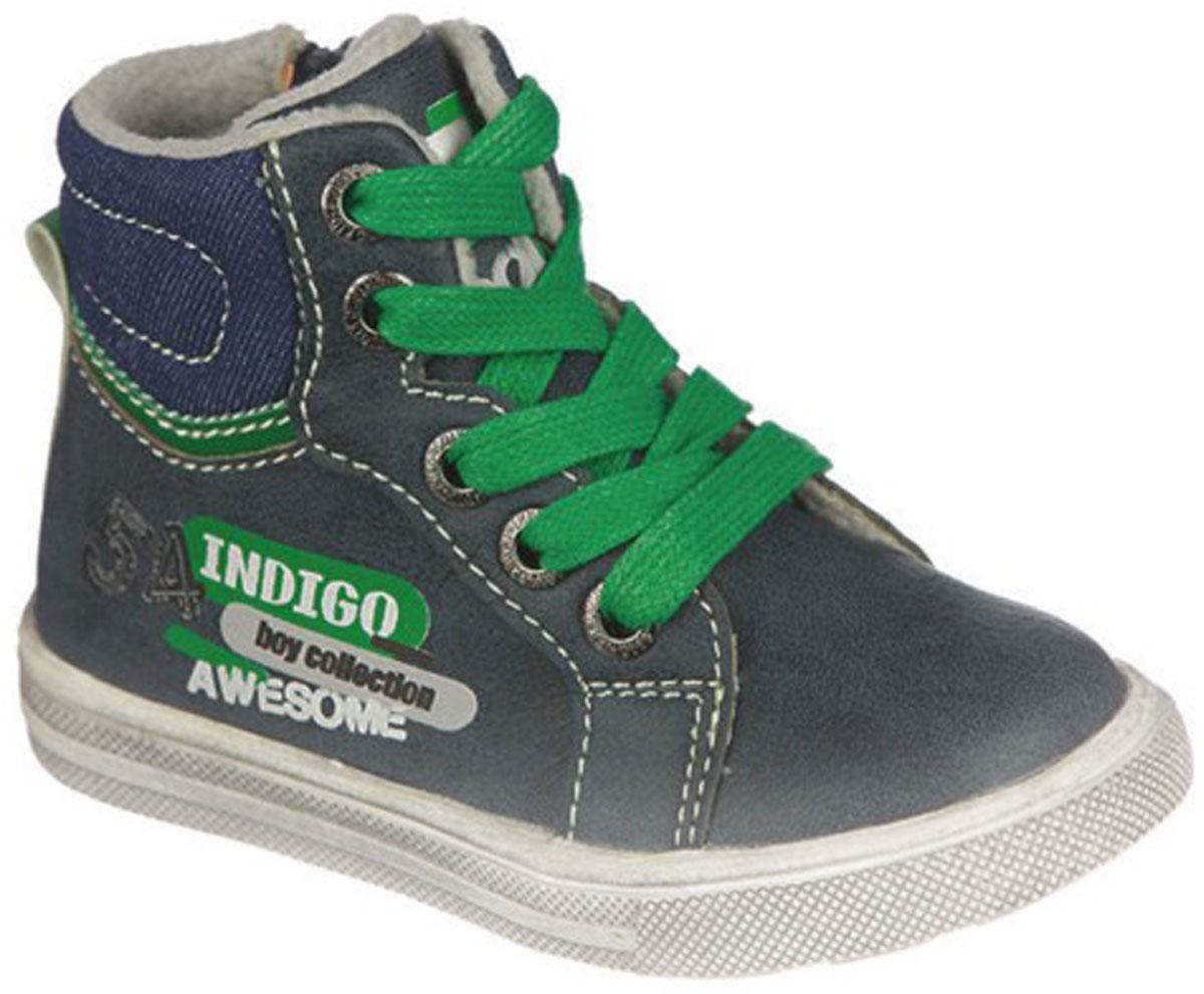 Ботинки для мальчика Indigo Kids, цвет: синий. 51-499B/12. Размер 24
