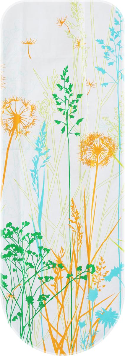 Чехол для гладильной доски Eurogold Basic, цвет: белый, оранжевый, зеленый, размер S. С34 eurogold 37542в mono