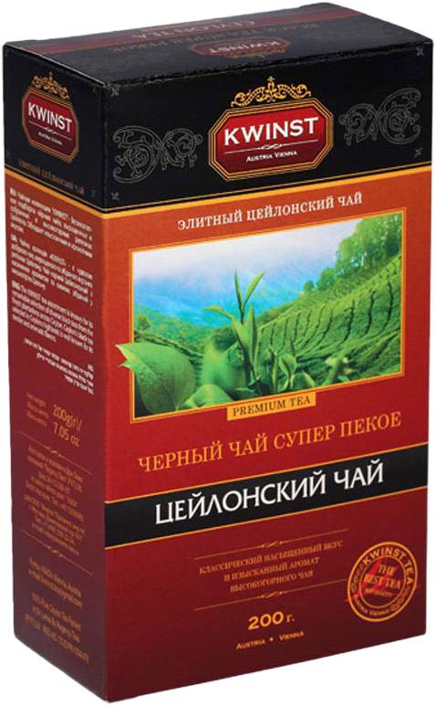 Kwinst Super Pekoe чай черный листовой, 200 г kwinst хризантема чай черный листовой 140 г