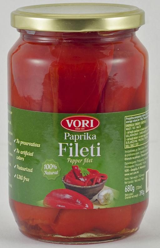 Vori Филета цельный красный перец, 680 г перец чили таиланд 100 г