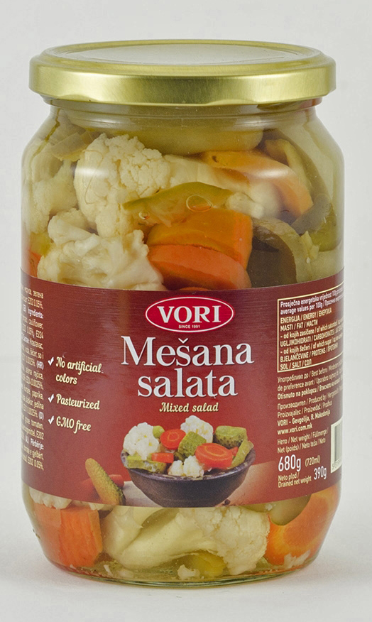 Vori Овощной салат, 680 г мясо