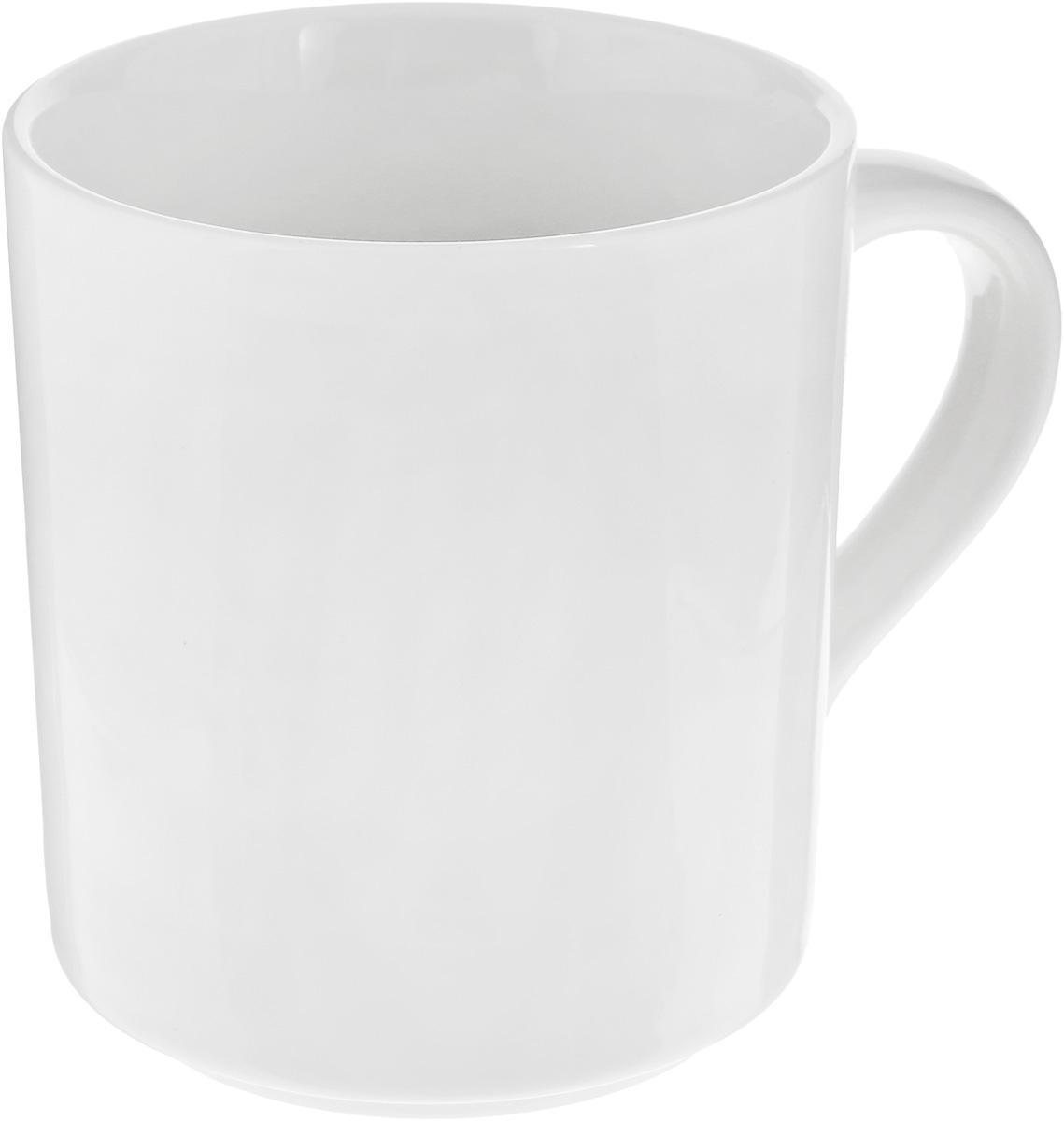 Кружка Wilmax, цвет: белый, 350 мл кружка bhp яблоневый цвет 350 мл