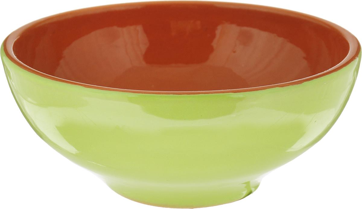 Салатник Борисовская керамика Удачный, цвет: салатовый, коричневый, 450 мл удачный обмен