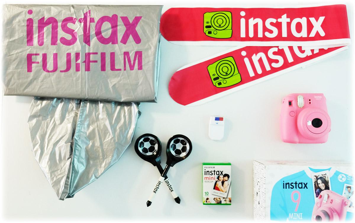 Fujifilm Instax Mini 9, Pinkфотокамера мгновенной печати + набор болельщика Fujifilm