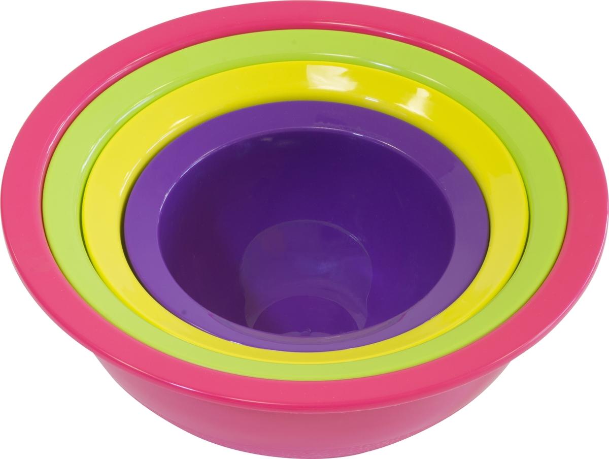 Набор из трех мисок (1,3 л / 2,2 л / 5 л) и дуршлага незаменим на кухне и поможет выполнить широкий спектр задач.Изделия можно мыть в посудомоечной машине.Диаметр дуршлага: 26 см.
