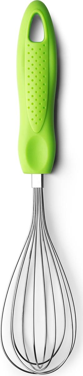 """Стальной венчик Atmosphere """"Веселая кухня"""" позволит взбить легко и быстро. Удобная пластиковая ручка хорошо сидит в руке. Подходит для мытья в посудомоечной машине."""