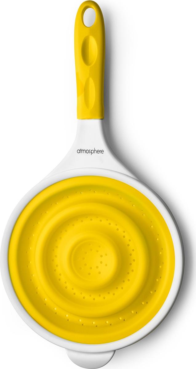 """Силиконовый дуршлаг """"Веселая кухня"""" незаменим на кухне!Легко моется, не впитывает запахов.Компактен при хранении.Подходит для мытья в посудомоечной машине.Диаметр: 20,5 см."""