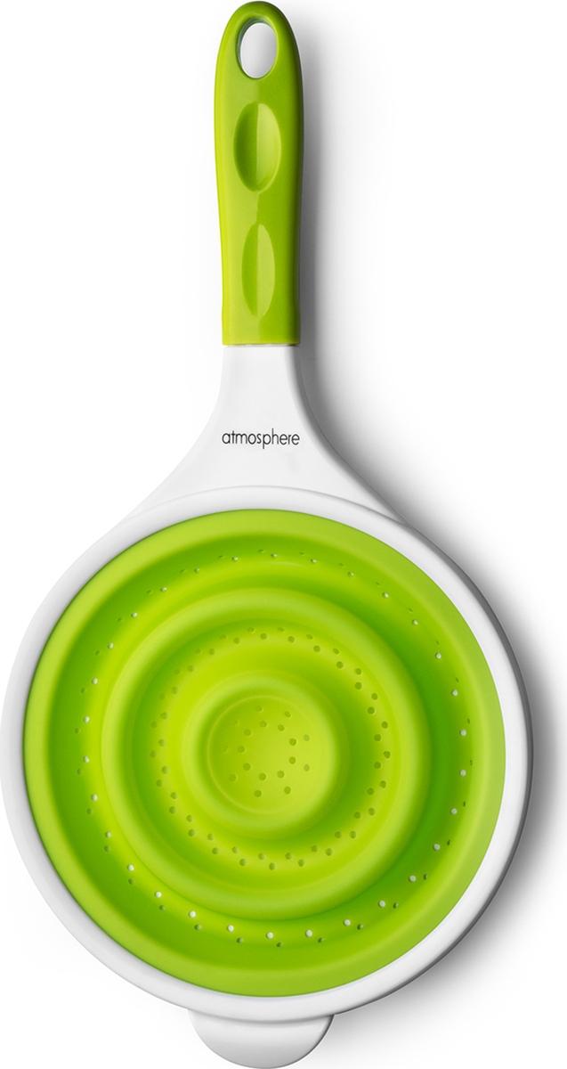 Силиконовый дуршлаг незаменим на кухне!Легко моется, не впитывает запахов.Компактен при хранении.Подходит для мытья в посудомоечной машине.