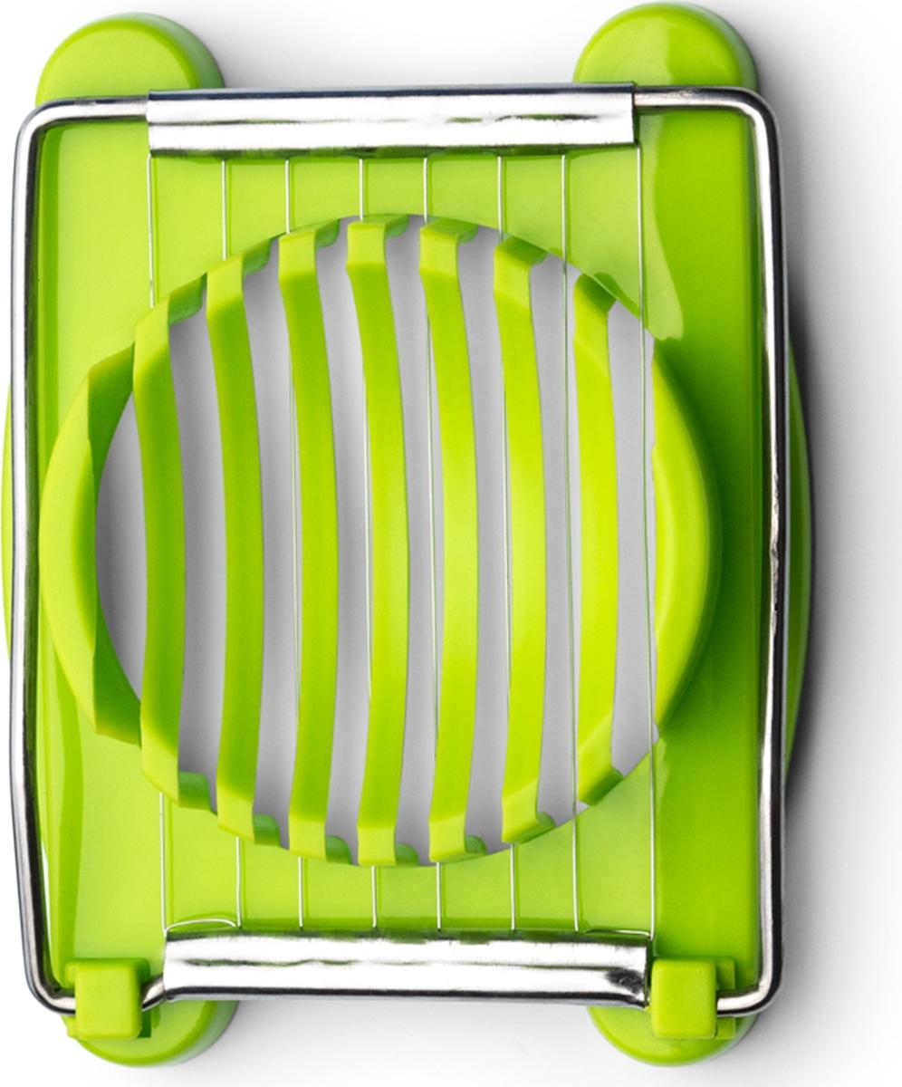 Яйцерезка позволяет легко нарезать яйца тонкими одинаковыми кусочками. Также подходит для нарезки мягких вареных овощей.Подходит для мытья в посудомоечной машине.