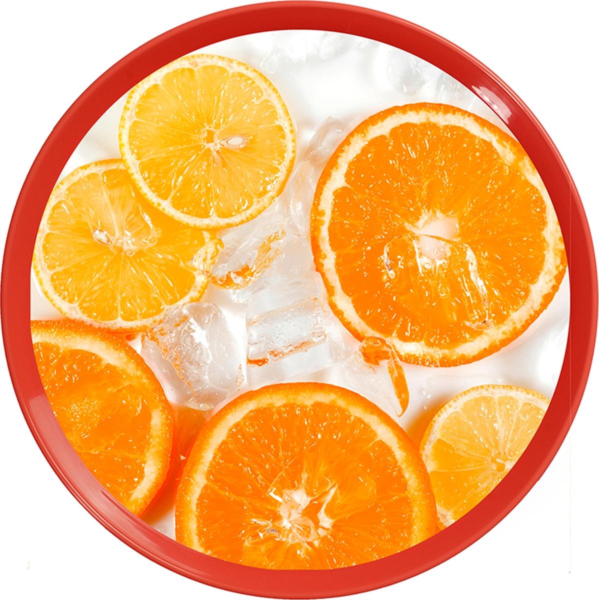 Классический круглый поднос с красочным декором, изготовлен из пластика. Поднос легко моется и быстро сохнет.