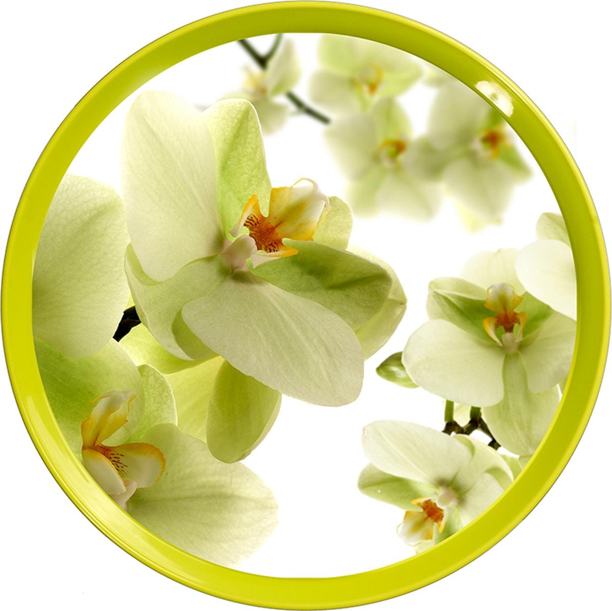 """Поднос """"Sagad"""", 35 см, цвет: орхидеи"""