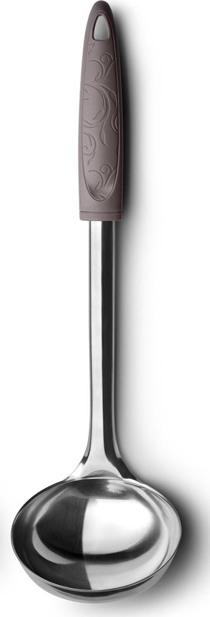 Удобный стальной половник классической формы, ручка выполнена из пластика. Подходит для мытья в посудомоечной машине