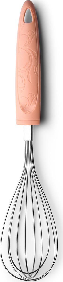 Стальной венчик позволит взбить легко и быстро. Удобная пластиковая ручка хорошо сидит в руке. Подходит для мытья в посудомоечной машине.