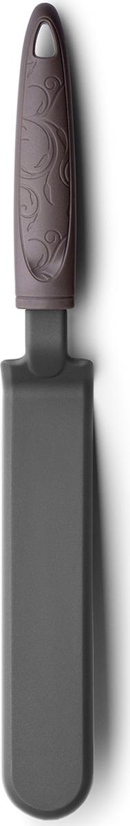 Удобная длинная лопатка, за счет формы помогает легко поддевать и переворачивать блины. Эргономичная ручка с элегантным декоромпрекрасно лежит в руке. Подходит для мытья в посудомоечной машине.