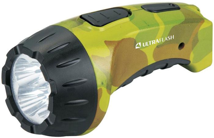 Фонарь ручной Ultraflash Akku Profi, аккумуляторный, 4 LED, цвет: милитари. LED3804ML