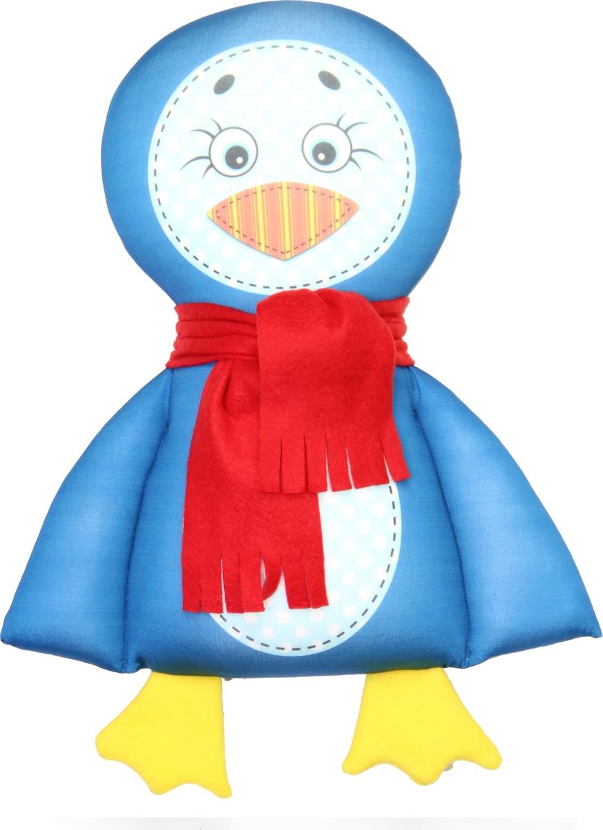 Штучки, к которым тянутся ручки Подушка-игрушка антистрессовая Пингвин цвет синий