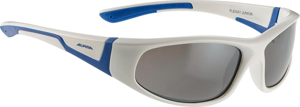 Велосипедные очки Alpina Flexxy Junior, цвет оправы: белый, синий очки солнцезащитные alpina flexxy junior black green