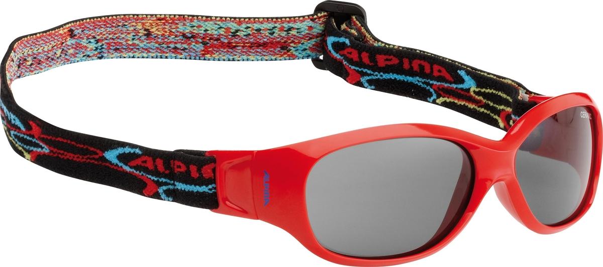 Велосипедные очки Alpina Sports Flexxy Kids, цвет оправы: красный