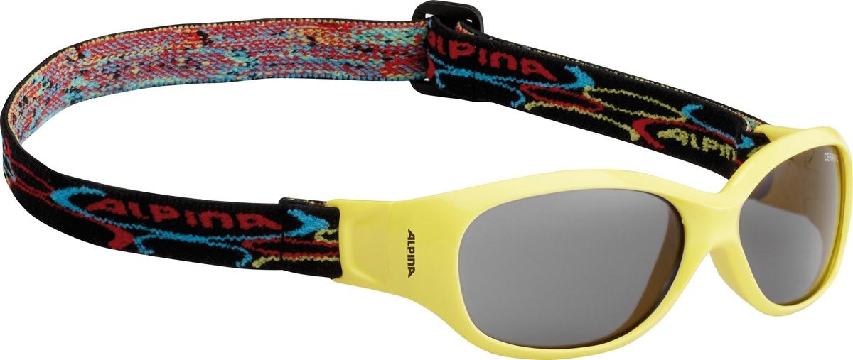 Велосипедные очки Alpina Sports Flexxy Kids, цвет оправы: желтый