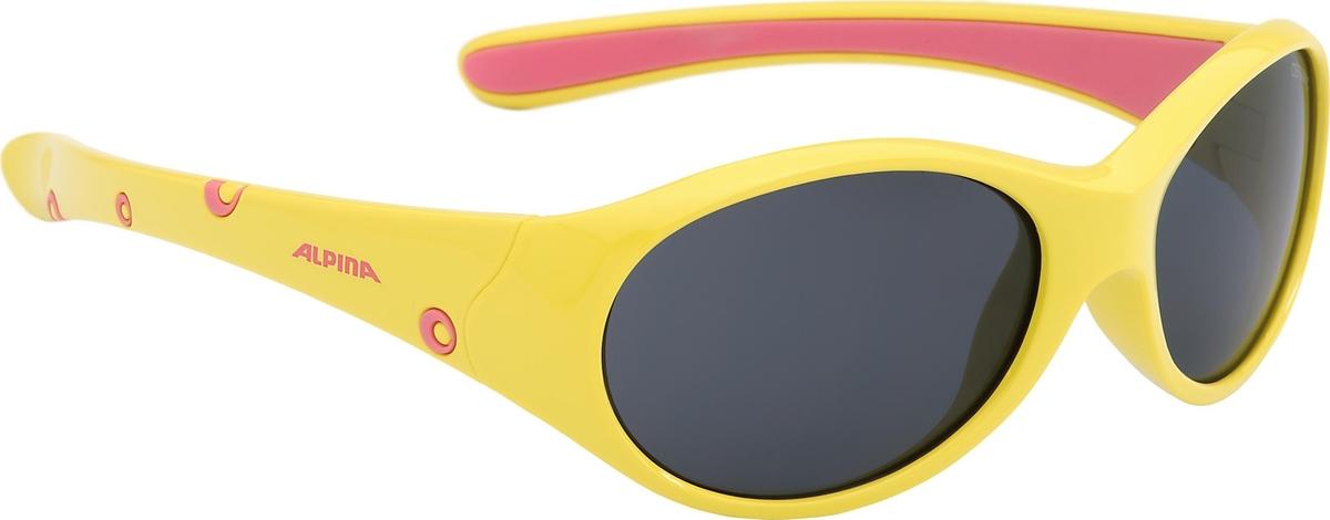 Велосипедные очки Alpina Flexxy Girl, цвет оправы: желтый, розовый очки солнцезащитные alpina flexxy junior black green