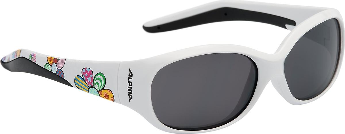 Велосипедные очки Alpina Flexxy Kids, цвет оправы: белый