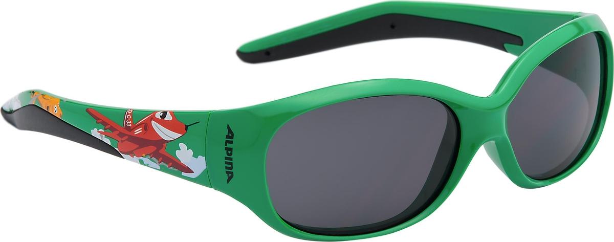 Велосипедные очки Alpina Flexxy Kids, цвет оправы: зеленый