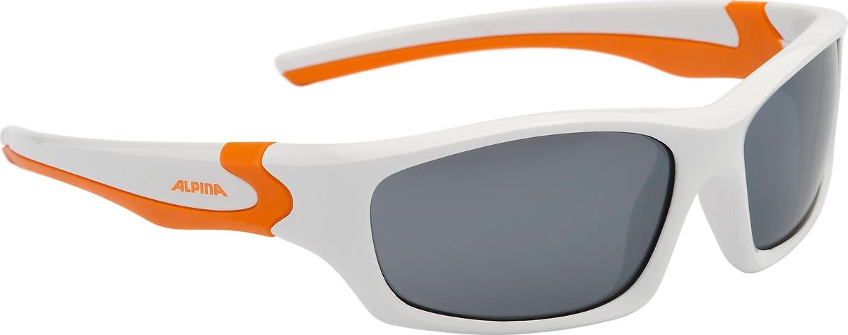 Велосипедные очки Alpina Flexxy Teen, цвет оправы: белый, оранжевый