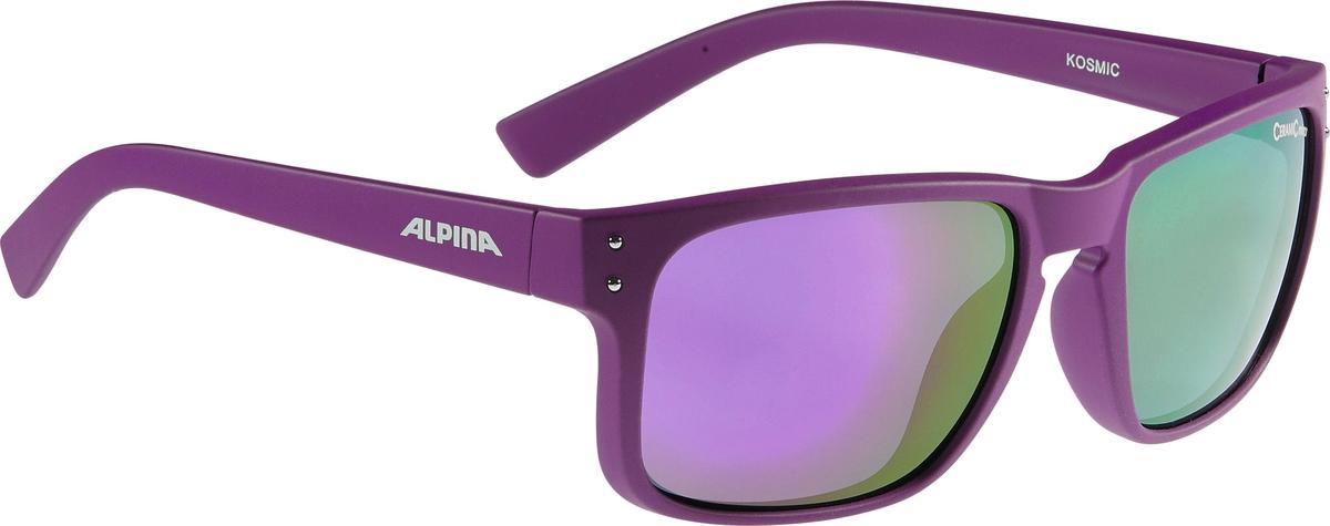 Велосипедные очки Alpina Kosmic, цвет оправы: фиолетовый alpina testido green matt black blue mirror s3