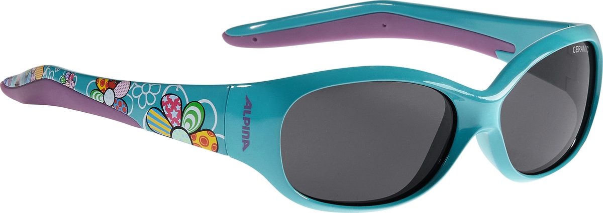 Велосипедные очки Alpina Flexxy Kids, цвет оправы: бирюзовый. 4003692237620 очки солнцезащитные alpina flexxy junior black green
