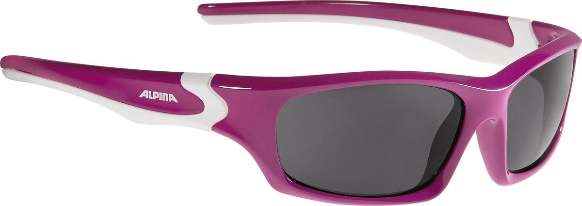 Велосипедные очки Alpina Flexxy Teen, цвет оправы: фуксия, белый alpina testido green matt black blue mirror s3