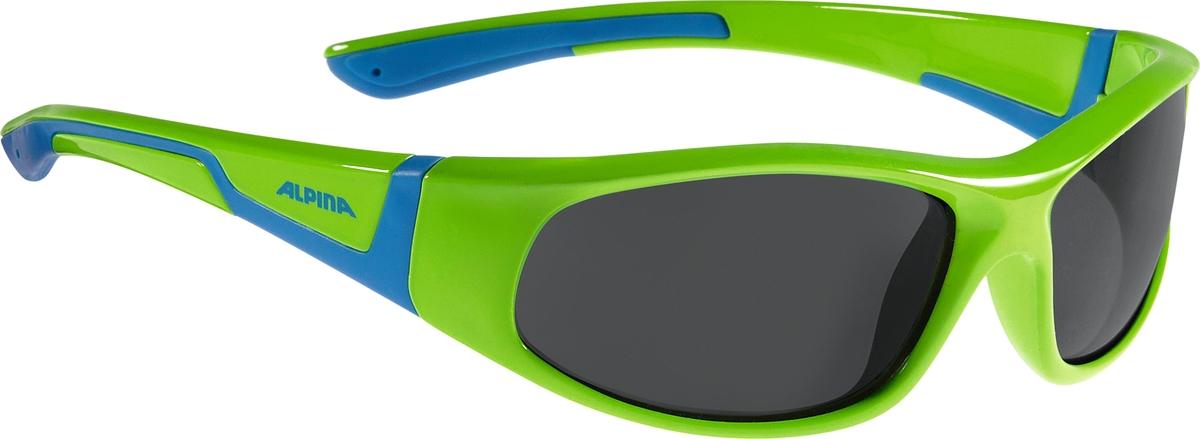 Велосипедные очки Alpina Flexxy Junior, цвет оправы: зеленый, синий очки солнцезащитные alpina flexxy junior black green