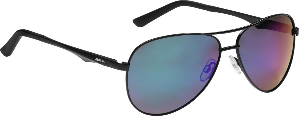 Велосипедные очки Alpina A 107 P, цвет оправы: черный alpina testido green matt black blue mirror s3