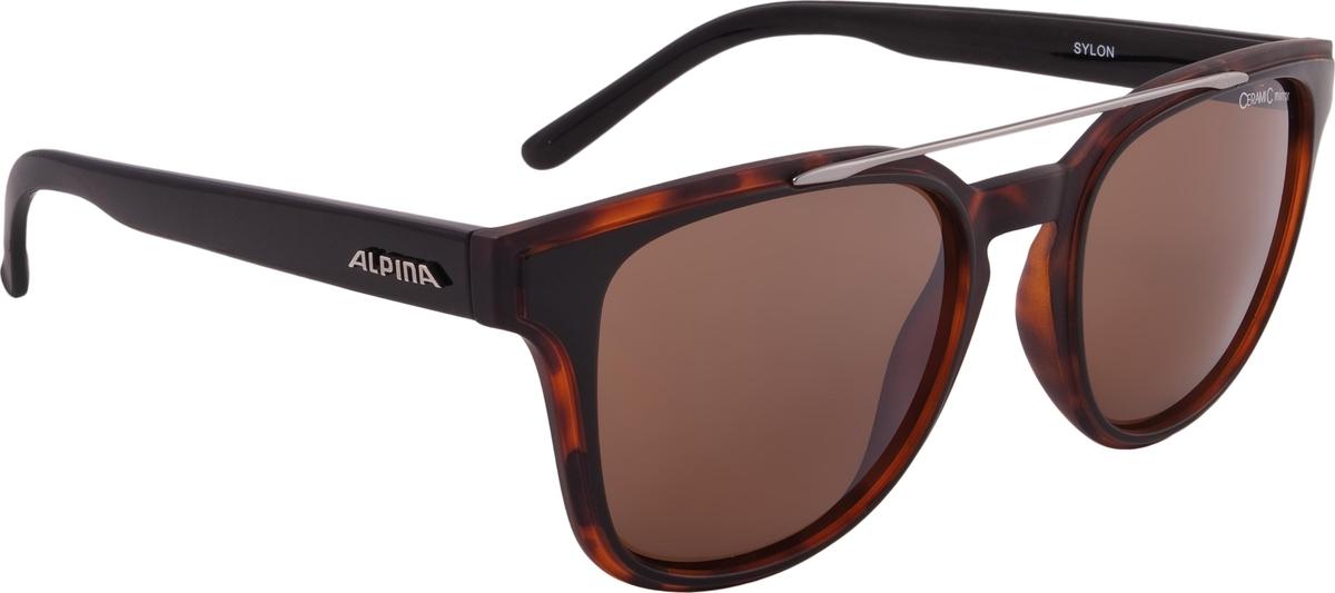Велосипедные очки Alpina Sylon, цвет оправы: темно-коричневый