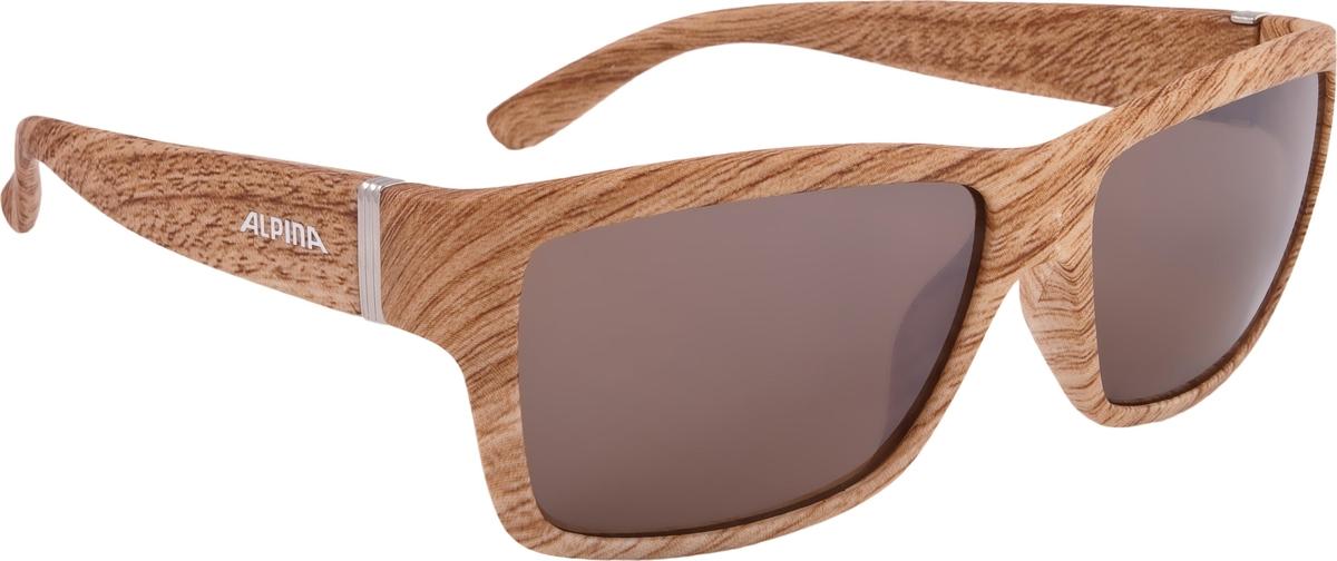 Солнцезащитные очки Alpina Kacey, цвет оправы: коричневый alpina testido green matt black blue mirror s3