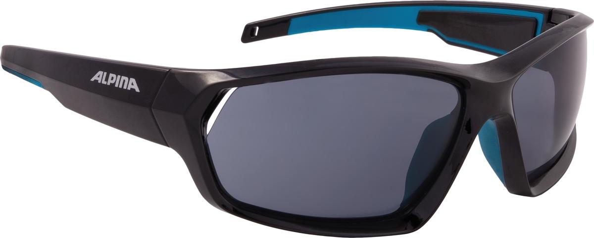 Велосипедные очки Alpina Pheso P, цвет оправы: черный, синий