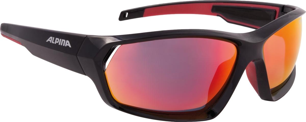 Велосипедные очки Alpina Pheso, цвет оправы: черный, красный