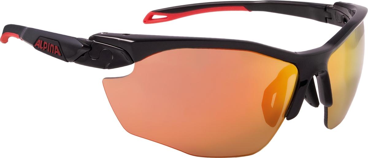 Велосипедные очки Alpina Twist Five Hr Cm+, цвет оправы: черный, красный