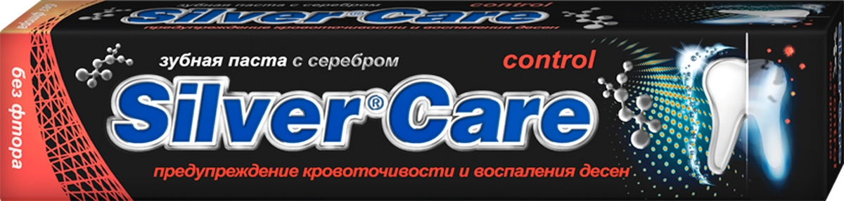 Зубная паста Silver Care Control без фтора, 75 мл manka care 3 5x time dental surgical binocular loupes magnifier glasses 100