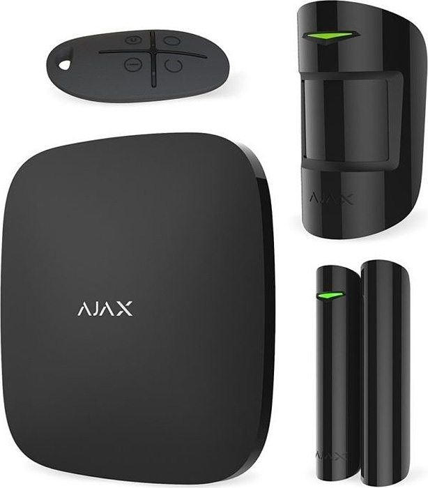 Ajax StarterKit, Black комплект радиоканальной охранной сигнализации 8 ethernet relay network switch point dynamic delay tcpudp module controller local button