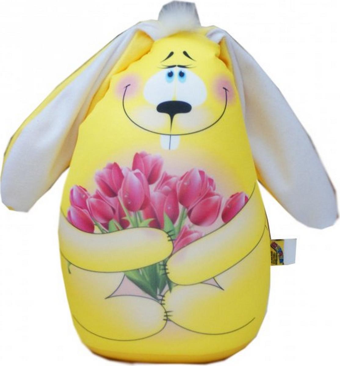 Штучки, к которым тянутся ручки Подушка-игрушка антистрессовая Элвин цвет желтый