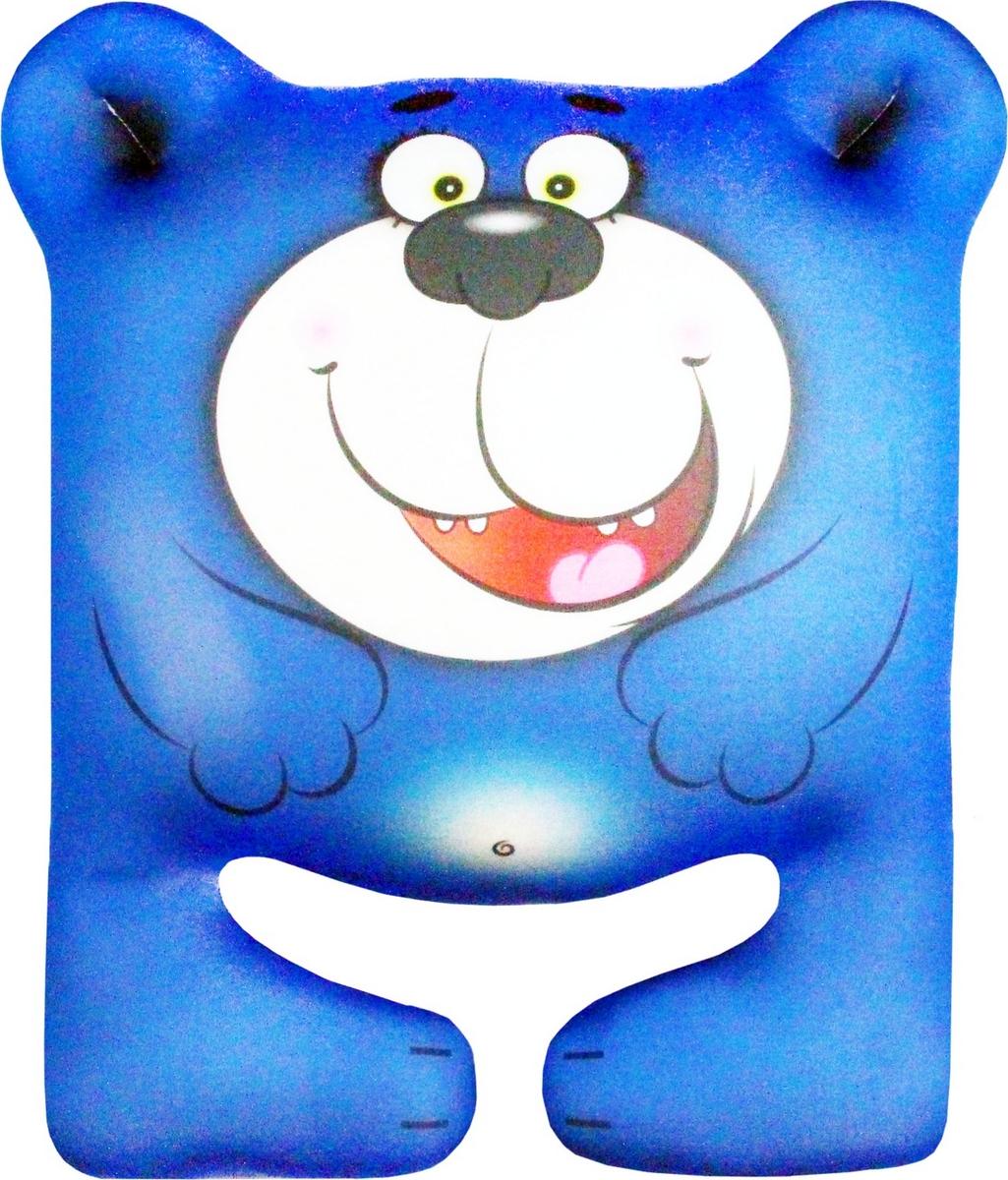 Штучки, к которым тянутся ручки Подушка-игрушка антистрессовая Мишка цвет синий