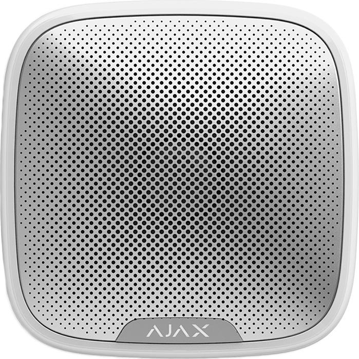 Ajax StreetSiren, White беспроводная звуковая уличная сирена датчик ajax fireprotect white