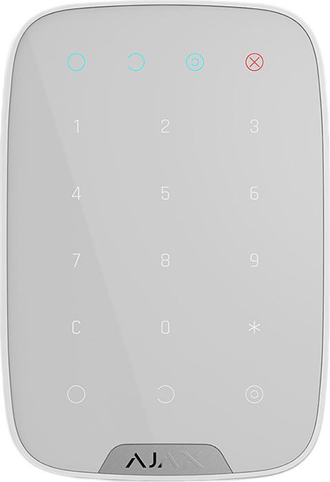 Ajax KeyPad, White беспроводная сенсорная клавиатура датчик ajax fireprotect white