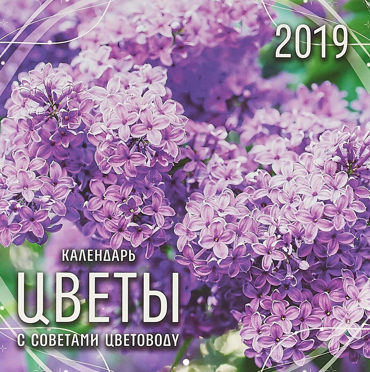 Календарь настенный перекидной на 2019 год (на скрепке). Цветы. С советами садоводу календарь настенный 2016г 285 280мм 12л на скрепке d3657